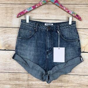NWT One Teaspoon Bandit shorts size 28 // O23
